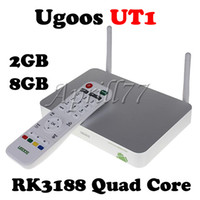 Quad Core Included 1080P (Full-HD) Ugoos UT1 RK3188 Quad Core 1.8Ghz Mini TV Box 2GB DDRS 8GB Double External Wifi Antenna 1080P Android 4.2 Smart PC Stick Dongle Hdd Player