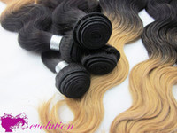 Wholesale 15 Off Malaysian Wavy Virgin Hair Ombre Hair Extensions b Two Tone Color Mixed Length Hair Extensions In Stock OMB013