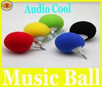 Wholesale NEWEST Mini Music Sponge Ball Speaker Sponge ABS Mini USB Travel Speaker for MP3 MP4 Cell Phone Notebook
