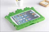 Wholesale Free DHL High quality Cute Lovely Standing Crown series Back Cover for ipad mini EVA Case for Kids Partner