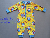 Wholesale children kids Boys Giggle Hoot Onesie romper long sleeved pajamas