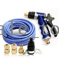 0 0 Car Washer Blue car wash supplies car wash device portable high pressure water gun tools copper sea blue water pipe