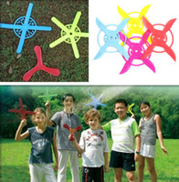 Wholesale 4 Styles Boomerang Colorful Darts Kids Outdoor Sports Frisbee UFO Return Flying Toys
