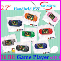 Wholesale DHL PXP3 bit inch LCD Pocket Handheld Video Game Player Console System Games Built in RW PXP3