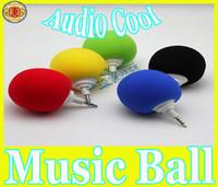 al por mayor bolas de altavoces para móviles-Mini mini altavoz del recorrido del USB del MP3 del altavoz Sponge + ABS de la bola de esponja de la música del NUEVO MÁS NUEVO para el envío libre del cuaderno del teléfono celular del MP3 MP4