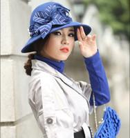 felt hat - Vintage Winter Dress Women Wool Felt Hat Winter Hat Top Hat Millinery Casual Pure Wool Felt Hat Fashion Wide Brim Handmade Basin Hat
