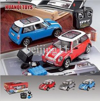 mini cooper rc car - 1 scale WD rc mini cooper with music lights sound rechargeable car models toys for boys
