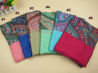 Wholesale 2013 new arrive women plain printe flower cashew polyester shawls muslim hijab scarves scarf cm COLOR