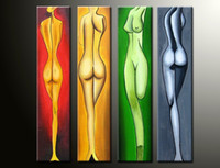 nude women - hand painted The Long leg beauty High Q Wall Decor Modern picture nude women painting x24inch set Frame