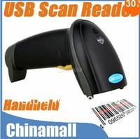 Wholesale High Quality USB Hand Held Handheld Visible Laser Scan Barcode Bar Code Scanner Scan Reader