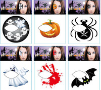 Wholesale 50 off New Products Halloween Halloween stickers Halloween costume Face amp eyes Tattoo Sticker grimace stickers