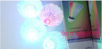 Wholesale New Dark Night LED Badminton Shuttlecock Birdies Lighting Sports