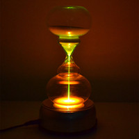 Wholesale Crystal Sand Hourglass Hourglasses Sandglass Timer Rotate Colorful Lamp Led Light Minutes Creative Gift Home Decoration Ant Crafts
