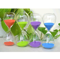 Wholesale Corlorful Crystal Purple Pink Blue Orange Green Sand Clock Sandglass Hourglass Timer Minutes Home Decoration Creaive Gift