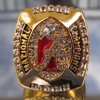 2011 Campeonato Nacional de Alabama Crimson Tide tamaño Replica anillo 11 de Estados Unidos el mejor regalo para los fans de la colección de alta calidad