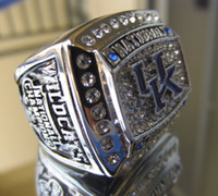 Mexican anniversary university - 2012 University of Kentucky Wildcats National Championship ring Replica size US best gift for fans collection High Quality