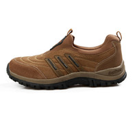 Wholesale 2013 New Arrival Model Genuine Leather Men Sports Shoes Outdoor Men Hiking Shoes Mountaineering Footwear US6 Sizes Drop Shipping