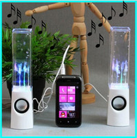 Wholesale a pair led usb dancing water speaker water fountain speaker soundbox boombox for phone pc pad mp4 co