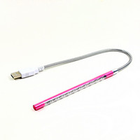 Wholesale 2013 New Pink USB LEDs Light Bright Flexible Night Lamp For PC Notebook Laptop