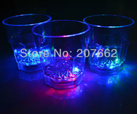 Wholesale ML plastic cup Flashing Led Wine Glass Light Up Barware Drink Cup Plastic Barware light party cup