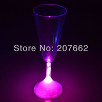 Wholesale ML OZ color changing plastic flashing cup flashing martini glass drinking cup for christmas