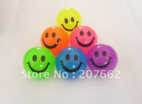 Wholesale cm rubber color changing led flashing bouncy ball led flashing smile face led flashing toy for children