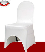 Wedding Chair Spandex / Polyester  Hot ! 5 Pcs White Fashion Thicken Elasticity Chair Covers Wedding Meeting Seat Covers(003399)
