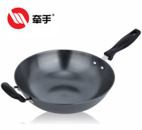 Cast Iron Woks Orange,Light Grey,Dark Grey Healthy wok stainless steel wok electromagnetic furnace gas stove 32 34cm