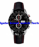 Wholesale luxury Automatic High Quality Chronograph leather band NEW MOTOR RACING WATCH CV2A1E FC6301 Sapphire Glass