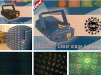 Wholesale High Quality Brand New Green Red Laser DJ Party Stage Lighting Starry love stars DHL UPS HKPAM