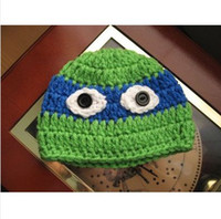 Wholesale Crochet Baby Hat TMNT TEENAGE MUTANT NINJA TURTLE INSPIRE Photography photo prop
