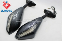 Seats & Benches aprilia rsv factory - Motorcycle Carbon LED Turn Signals mirrors For Ducati Bandit GSF650 GSX650F GSF650S Aprilia RSV1000R RSV R Factory