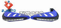 Falling Protection 10 cm ZJ-12 Universal MOTORCYCLE MOTOCROSS DIRTBIKE MX ATV HAND GUARDS LED for Yamaha XT WR DT YZ PW 660 250 125 50 XJR 400 1300 MT-01 BLUE