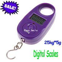 Pocket Scale <50g H4680PU 25kg 5g 25kg*5g Mini Purple Display Hanging Luggage Fishing Weighing Digital Scale KG LB, freeshipping dropshipping