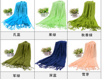 Wholesale Ponchos scarves mixed colors Factory sale Pashmina Cashmere scarf Wrap Shawl HLL781G
