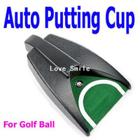 Wholesale Golf Ball Kick Back Automatic Return Putting Cup Device Training Aid