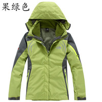 Jackets Women Polyester High Quality Female Outdoor Double Layer 2in1 Waterproof Climbing Skiing Jackets Windbreaker,Women Waterproof Winderproof Coat