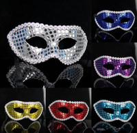 Wholesale Bling Unisex Lace Party Mask Venetian Costume Masquerade Cosplay Sexy Sequin Party Mask