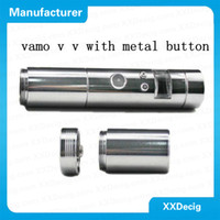 Electronic Cigarette Set Series XXDecig DHL Free Shipping 5sets lot Vamo V2 ego 3V-6V adjustable Voltage Stainless steel Provari VV Mod Vamo LavaTube kit