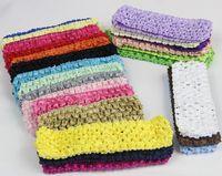venda por atacado crianças tiara-100 unidades de 1,7 polegadas bandas Crochet Cabeça, tiaras do bebê, acessórios de cabelo do bebê e childrenkids Carneiras