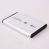 Wholesale USB to SATA quot HDD Enclosure External Hard Drive Case Silver Black PCAC0150