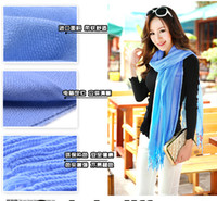 Wholesale Ponchos scarves Factory sale Pashmina Cashmere blue scarf Wrap Shawl HLL782G
