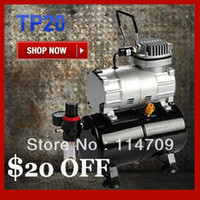 air compressor with tank - Mini Air Compressor TC20T with Air Tank Portable Airbrush Compressor for Painting Tatoo Water Filter