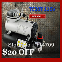 Wholesale Mini V Air Compressor TC20T with Air Tank Portable Airbrush Compressor for Painting Tatoo Water Filter