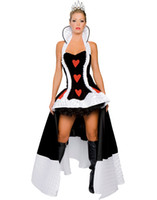 Wholesale Women s Sexy Halloween Costume Enchanting Queen of Hearts Costume