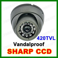 Wholesale 420TVL CCTV Dome Security Camera IR SHARP CCD Outdoor Weatherproof Vandal Camera For DVR System