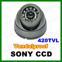 Wholesale CCTV Security Surveillance Camera Vandalproof Super HAD CCD TVL IR mm Wide Angle Night Vision Outdoor