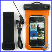 Wholesale Waterproof Cases with Armband Underwater Mobile Phone Bags Diving Swimming Waterproof Pouch for iphone Samsung S3 S4 HTC one