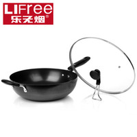 Stainless Steel Woks 32cm Music full coating smokeless wok cast iron pots non-stick wok electromagnetic furnace general