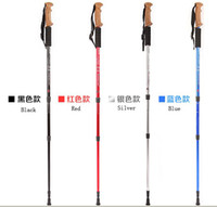 Wholesale Trekking Poles Cork Handle Outdoor Telescopic Alpenstock alpenstock Camping Hiking Stick